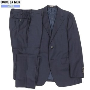 ★SALE 65%OFF★【COMME CA MEN】コムサメン チェック シングル3Bセットアップスーツ 紺『16/6/1』310516(送料無料)|fflower11