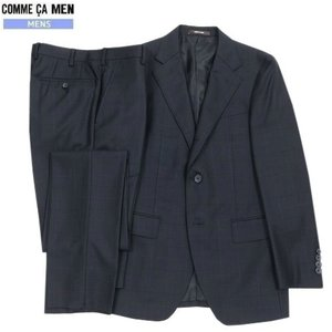 ★SALE 65%OFF★【COMME CA MEN】コムサメン チェック シングル3Bセットアップスーツ 濃紺『16/6/1』310516(送料無料)|fflower11