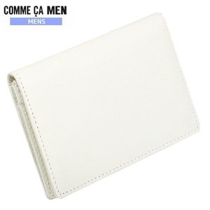 ★SALE 64%OFF★【COMME CA MEN】コムサメン 本革 エンボスレザーカラー名刺入れ(カードケース) 白『15/6/2』100615(送料無料)|fflower11