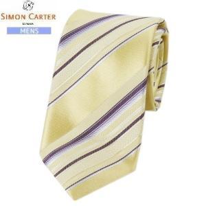 商品名:日本製 ラメ糸使い レジメンタル シルクネクタイ ブランド:SIMON CARTER 生産国...