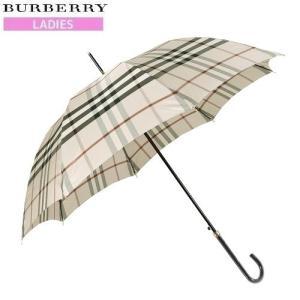 ★当店オススメ★【BURBERRY】バーバリー 日本製 カバー付きノバチェックデザイン婦人長傘(雨傘) ベージュ『14/11/2』131114(送料無料)|fflower11