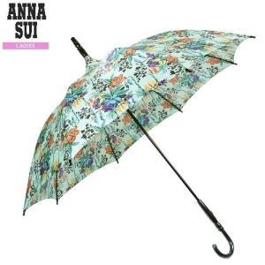 【訳あり商品】【ANNA SUI】アナスイ 日本製 ビビッドフラワー 婦人長傘(雨傘) 明青『17/6/2』060617(送料無料)|fflower11