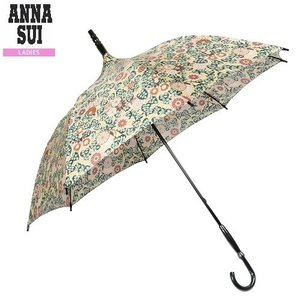 ★SALE 大特価★【ANNA SUI】アナスイ 日本製 リーフ&フラワー 婦人長傘(雨傘) 黄色『17/3/4』230317(送料無料)|fflower11