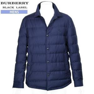 【BURBERRY BLACK LABEL】バーバリーブラックレーベル ホースマーク刺繍 ホワイトグースダウンジャケット 紺『16/11/4』221116(送料無料)|fflower11