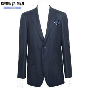 ■SALE 70%OFF■【COMME CA MEN】コムサメン チェック シングル3Bセットアップスーツ(※上下サイズ違い) 紺『16/6/1』310516 small(送料無料)|fflower11