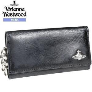【訳あり商品】【Vivienne Westwood】ヴィヴィアンウエストウッド 本革 MAN SIMPLE レザー4連キーケース 黒『17/8/1』010817(送料無料)|fflower11