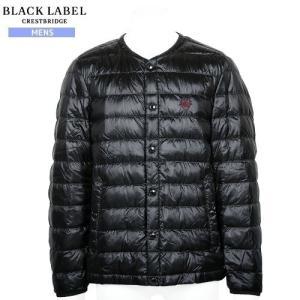 【BLACK LABEL CRESTBRIDGE】ブラックレーベル・クレストブリッジ ノーカラーライトダウンジャケット 黒『17/2/3』160217(送料無料)|fflower11