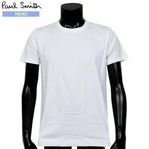【訳あり商品】【Paul Smith】ポールスミス 「ワンポイントロゴ」クルーネック 半袖 Tシャツ(インナー) 白『19/10/5』291019(送料無料)|fflower11