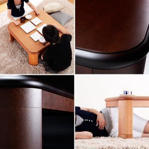 こたつ テーブル 正方形 日本製 楢ラウンド折れ脚こたつ リラ 80×80cm|ffws|02