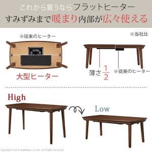 【送料無料】こたつ テーブル 長方形 フラットヒーター ソファこたつ 〔ブエノ〕 105x55cm|ffws|02