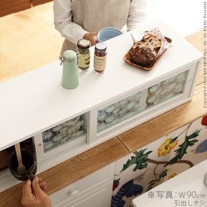 キッチン スパイスラック 両面 引戸 収納庫 ピコ 幅60cm 引出し付き 両面開き 上置き 調味料 ffws 02