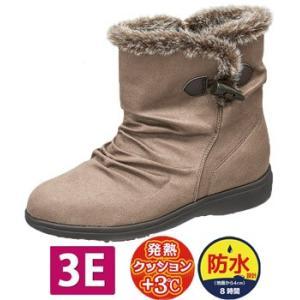 レディース 防水ブーツ 幅広 3E EVE イブ WPL048 グレーヌバック 履きやすい かわいい ファスナー付 fg-store