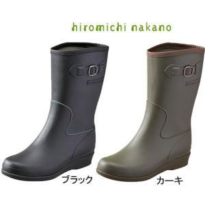 hiromichi nakano ヒロミチ ナカノ HN L015R ブラック カーキ レインブーツ 長靴|fg-store