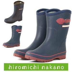 レインブーツ レインシューズ レディース ヒロミチ ナカノ hiromichi nakano WL163R ネイビー 長靴|fg-store