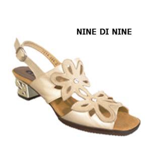 サンダル レディース 歩きやすい 本革 日本製 NINE DI NINE 7618 ブラック ベージュ 母の日 ギフト プレゼント|fg-store