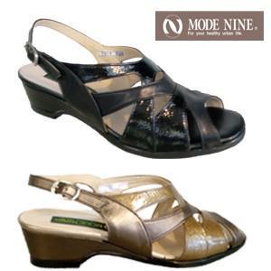 サンダル レディース ミセス 歩きやすい NINE DI NINE 7977 本革 4E 日本製 母の日 ギフト プレゼント|fg-store