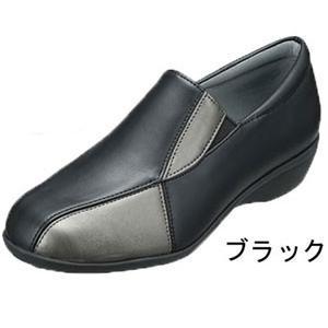 シューズ レディース 黒 コンビ ソフトインソール 日本製 靴 3E パンジー pansy 4492 母の日 ギフト プレゼント|fg-store|04