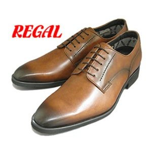 リーガル REGAL 34HRBB ゴアテックス プレーントゥ ビジネスシューズ 革靴 ブラウン 靴 就職祝 成人式 就活 リクルート 父の日 プレゼント|fg-store