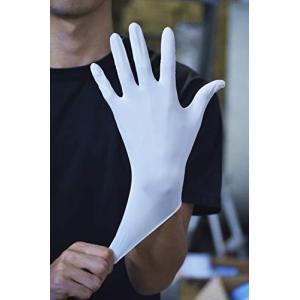 川西工業 #2039 ニトリル手袋 使い捨て 粉無し 100枚入り ホワイト Sサイズ|fglp