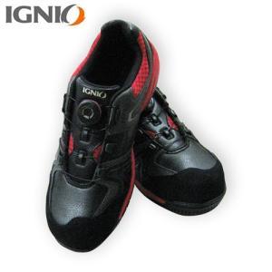 IGNIO(イグニオ) プロスニーカー ブラック×レッド IGS1027TGF BKRD|ficst