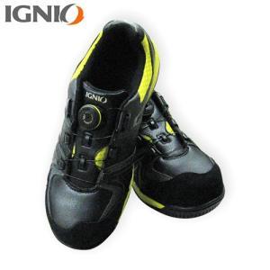 IGNIO(イグニオ) プロスニーカー ブラック×イエロー IGS1027TGF BKYL|ficst