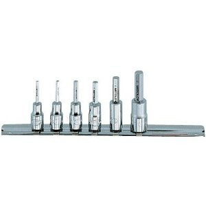 ミトロイ ヘックスソケットセット 6.35mm スタンダード ミリ 6コマ7点 PH207M|ficst