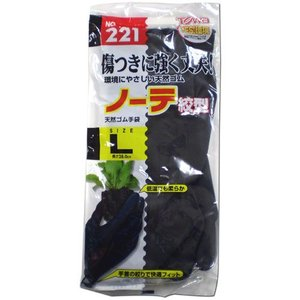TOWA 天然ゴム手袋 ノーテ 絞形 Lサイズ No.221|ficst