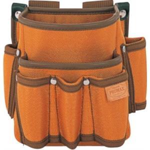 TAJIMA(タジマ) プロマックス 電工腰袋(2段・大/工具差し付) ブラウン PM-DE2K|ficst
