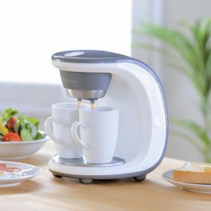 新津興器 コーヒーメーカー 2カップ SCM-02 マグカップ2個付属|ficst