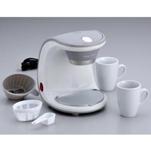 新津興器 コーヒーメーカー 2カップ SCM-02 マグカップ2個付属|ficst|03
