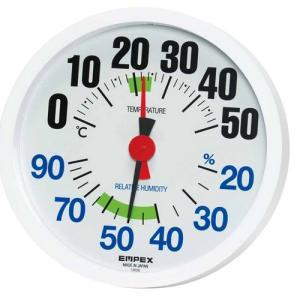 エンペックス(EMPEX) 温度湿度計 ルシード 壁掛け用 日本製 ホワイト TM-2671|ficst