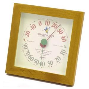 エンペックス (EMPEX) ワンダーワーカー温湿度計 温度計・湿度計 ブラウン TM-4689|ficst