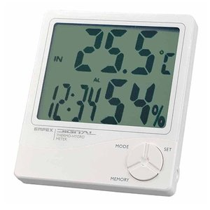 エンペックス (EMPEX) デジタル温湿度計(時計/カレンダー付) TD-8240|ficst