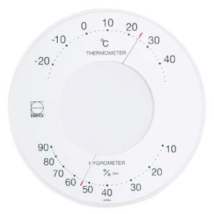 エンペックス (EMPEX) 気象計 温度計・湿度計 ホワイト LV-4303|ficst