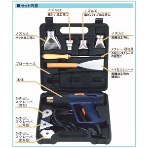 パオック(PAOCK) 【数量限定セール】PS ヒートガンセット HG-10S 温度調節可能 剥離 乾燥|ficst|03