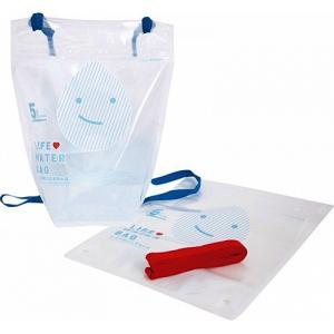 せおう水袋 ライフウォーターバッグ 5L×2枚入 防災ガイドブック付属  [災害 防災 緊急 避難 水 運ぶ リュック]|ficst