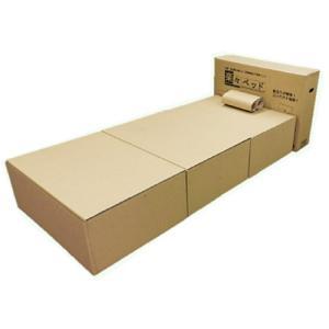 楽々ベッド 災害時組立て簡単ベッド [災害 防災 緊急 避難 簡易型 ベッド 組立 ダンボール]|ficst