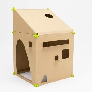 段ボールハウス カカポ TYPE1(基本キット) CACAPO-T001 [家 簡易型 組立 ダンボール]|ficst