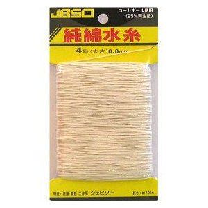 JBSO 純綿水糸 4号 100m 生成 NoG23003|ficst