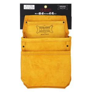 KNICKS(ニックス) 3ポケット2x2工法用釘袋 KCA-7510 [スエード 腰袋 作業用品] ficst
