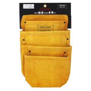 KNICKS(ニックス) 4ポケット2x4工法用釘袋 KCA-7511 [スエード 腰袋 作業用品]|ficst