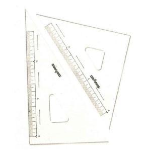 ドラパス 三角定規 目盛付 18cm No13-122|ficst