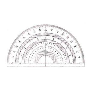 ドラパス 半円分度器 12cm No16-502|ficst