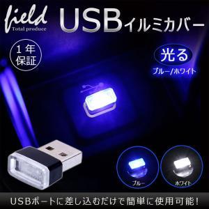 極小 USBライト 1個 USBイルミネーション カバー カー用品 車内ライト 車内イルミ USBカバー USBマイクロライト|field-ag