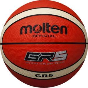 GR5 ゴムバスケットボール 5号球 オレンジ×アイボリー molten ボール バスケットボール ( BGR5OI / MTN )(QBJ37)|fieldboss