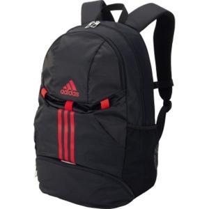 ボール用デイパック 黒×赤 adidas バッグ バック  ( ADP23BKR / ADS )(QBH33)|fieldboss