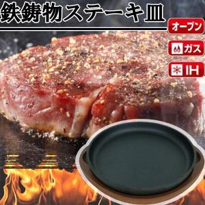 鉄板 ステーキ皿 家庭用 皿 パール金属 鉄鋳物製 16cm ( AP10361480 / HB-3...
