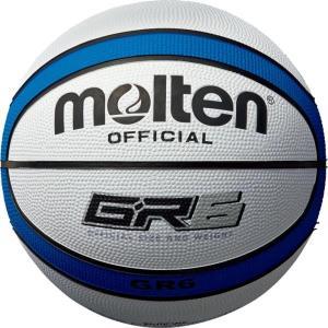 バスケットボール BGR6-WB GR6 白×青 6号球 molten ボール (MTN)(QBJ37)|fieldboss