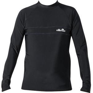 EN17110-K メンズアクアシャツ ブラック  エレッセ メンズ ラッシュガード 長袖  (ELE)|fieldboss