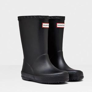 長靴 レインブーツ レインシューズ 子供 雨具 ハンター キッズ KFT5003RMA-BLK KIDS FIRST CLASSIC BLACK ( HUN10528844 ) 【 ハンター 】【QBJ38】|fieldboss